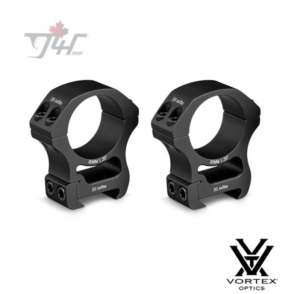 Vortex Pro Series 30mm Tube Rings Matte (High)