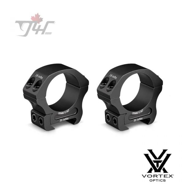 Vortex Pro Series 30mm Tube Rings Matte (Low)
