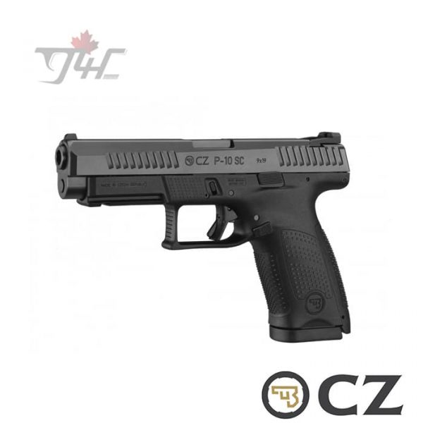 "CZ P-10SC 9mm 4.5"" BRL Black"