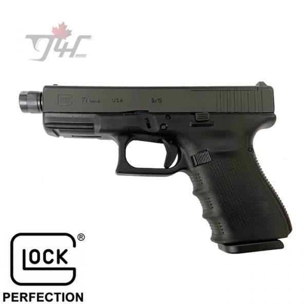 "Glock 19 Gen4 MOS 9mm 4"" BRL Black"