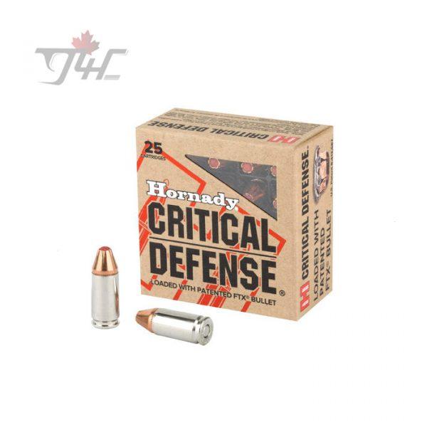 Hornady Critical Defense 9mm 115gr. FTX 250rds