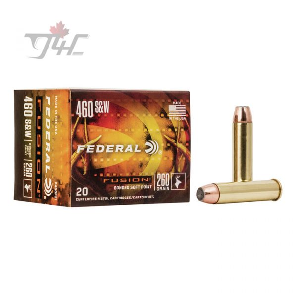 Federal Fusion .460 S&W 260gr. JHP 20rds